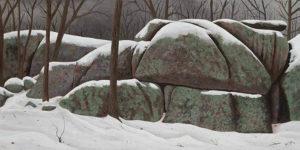 Wintering Elephant Rocks 15x30 acrylic on canvas